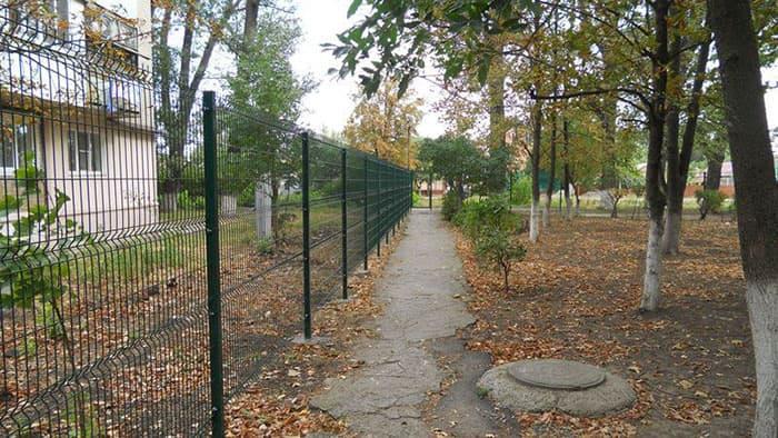 металлический забор 3d properimetr.ru
